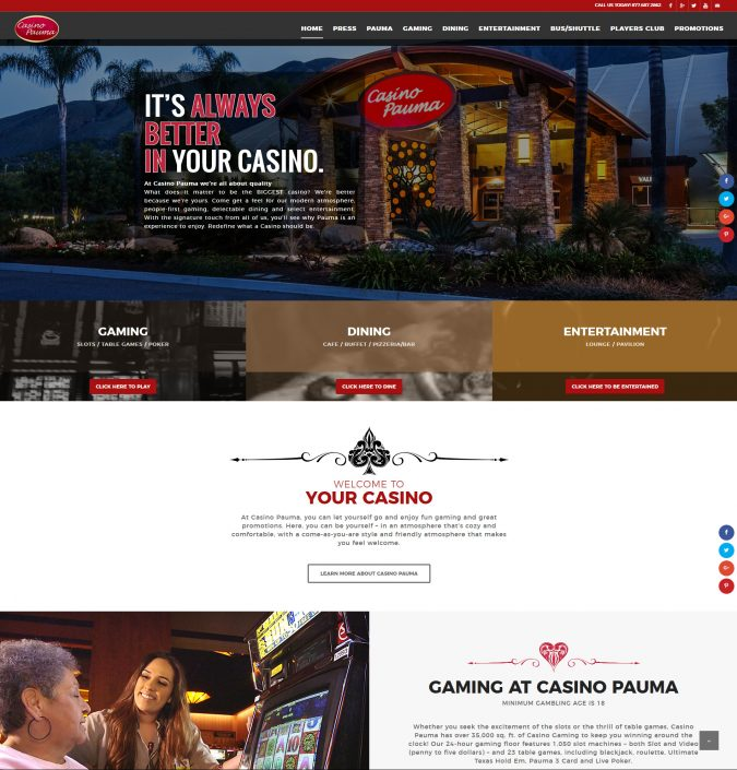 Casino Pauma Website