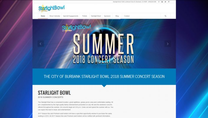 Burbank Starlight Bowl Website
